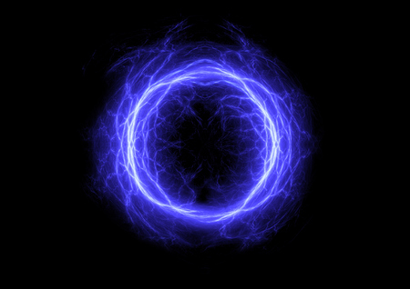 electric blue: Blue ball lightning,abstract electric element
