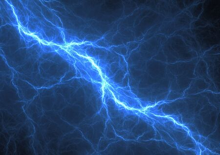 electric blue: Blue lightning, abstract electric background
