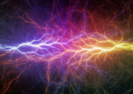 fire and ice: Colorful abstract lightning background