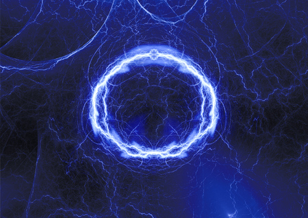 Blue plasma, abstract lightning background