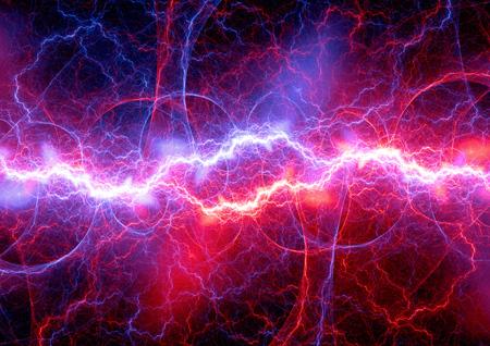 Red and blue fractal lightning