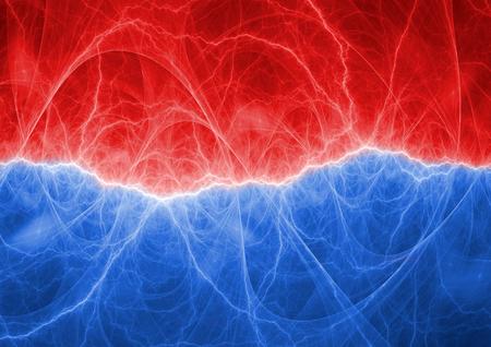 赤と青の抽象的な雷背景 写真素材