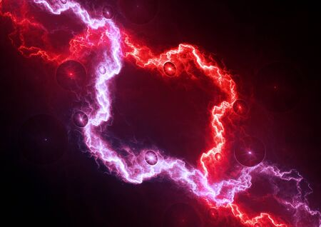 Red and purple electrical background