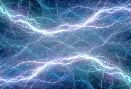 Blue plasma discharge, abstract electric background