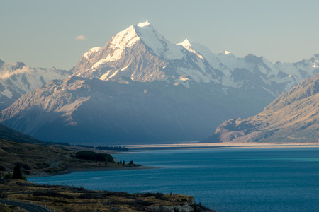Mount Cook, the highest New Zealand mountain Stok Fotoğraf