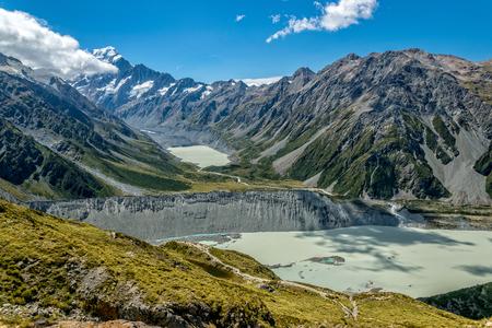 Mount Cook, the highest New Zealand mountain Standard-Bild