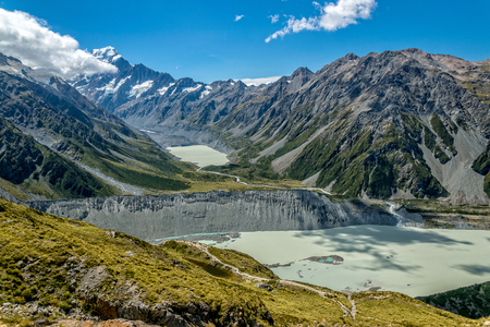 Mount Cook, the highest New Zealand mountain 版權商用圖片