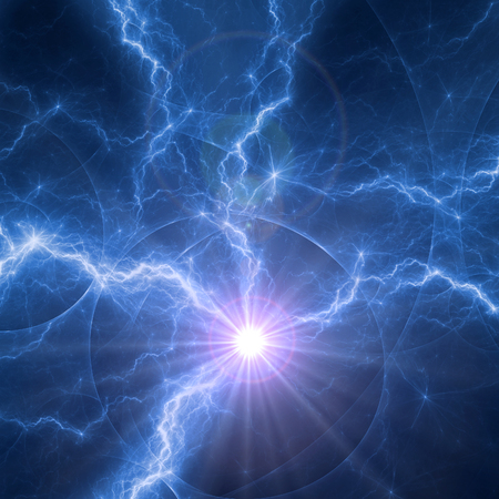 Blue plasma, abstract electric explosion Standard-Bild