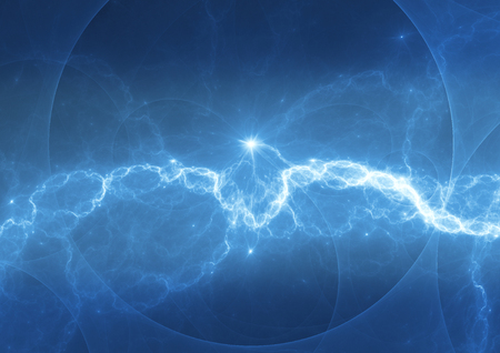 thunderbolt: Abstract blue plasma, cool electrical background Stock Photo