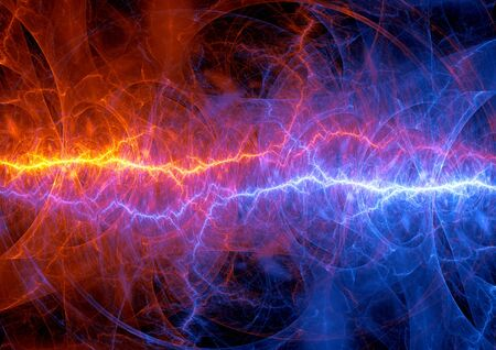 cold fusion: Fire and ice lightning, abstract plasma elements