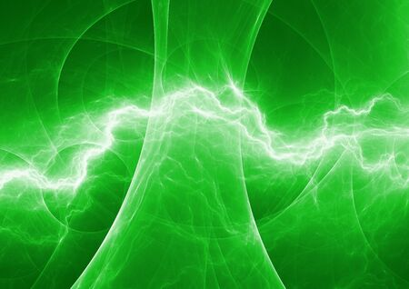 high voltage: Green energy, abstract lightning background