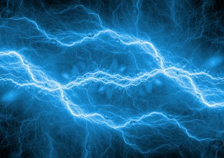 青い稲妻背景、プラズマ エネルギー