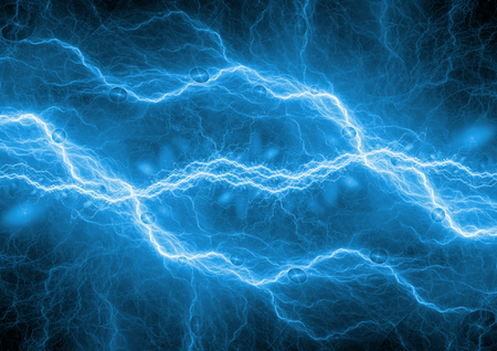 Blue lightning background, plasma energy