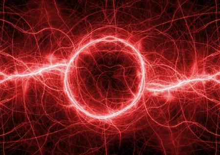 high voltage: Red lightning background, abstract plasma elemet