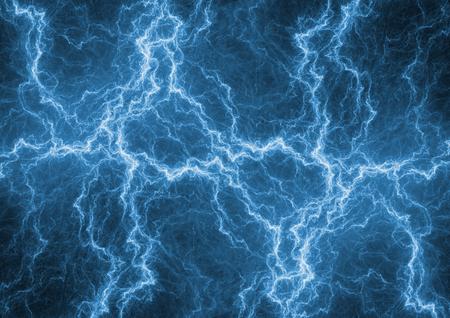 Blue lightning background, abstract plasma Stock Photo