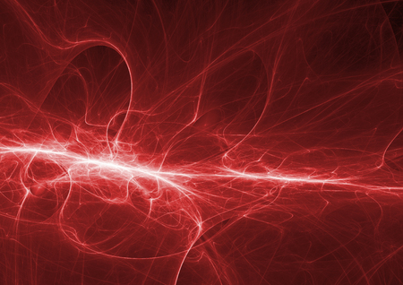bolt: Red lightning, abstract plasma background