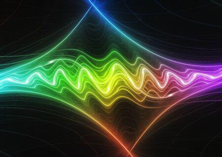 Abstract futuristic sound waves illustration Stock Photo
