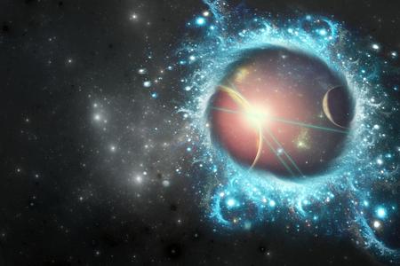 Portal Stargate entre dos galaxias Foto de archivo - 86547177