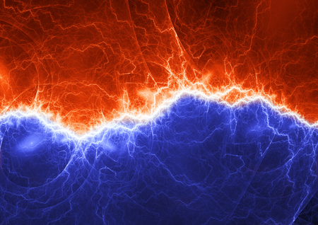 Fire and ice lightning, plasma power and energy background