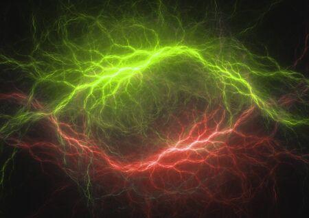 Fractale de foudre rouge et vert