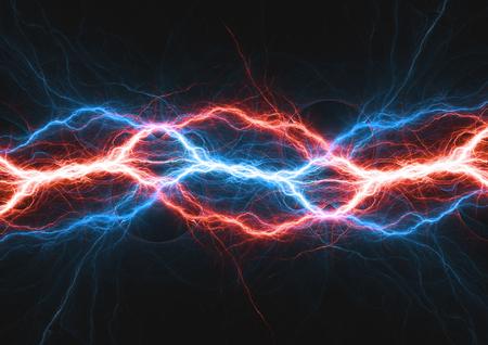 Clair de feu et de glace, énergie électrique de plasma chaude et froide Banque d'images - 91325508