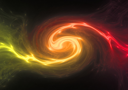 Hot red and yellow energy swirl, plasma and power abstract
