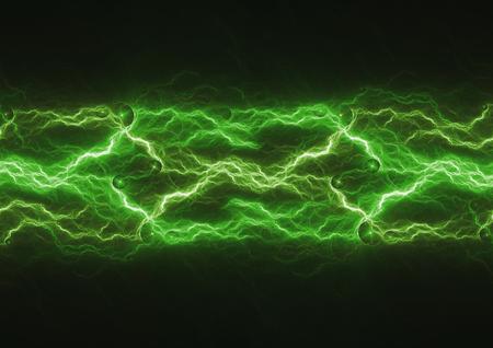 Green energy, lightning power abstract