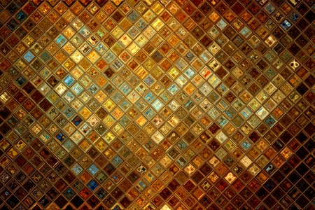 Golden glass abstract mosaic, luxury background Stock Photo