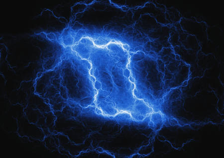 Bue plasma cloud, lightning storm
