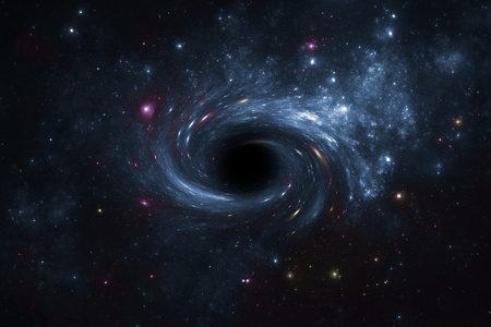 Deep space star field with black hole.  Stok Fotoğraf
