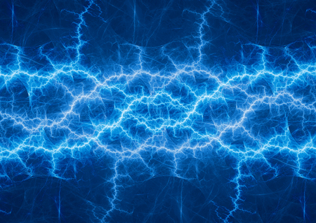 Blue plasma lightning  abstract electrical background