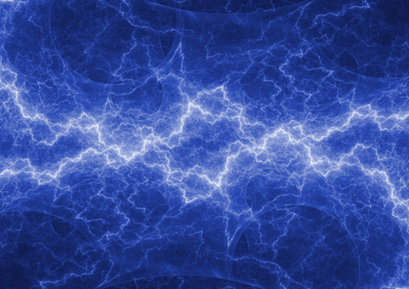 Blue lightning, abstract electrical background Stok Fotoğraf