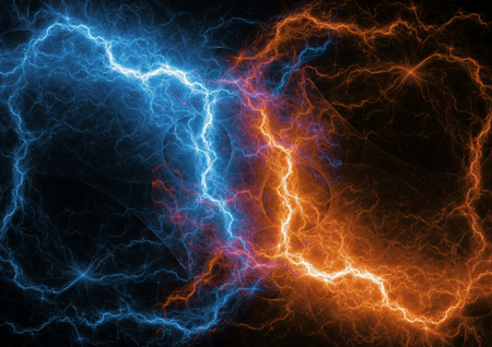 Fire and ice fractal lightning, plasma and energy lightning