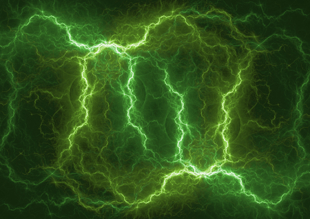 Green lightning power, abstract power background Stok Fotoğraf