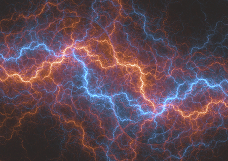 Fire and ice abstract fractal lightning, plasma electrical background