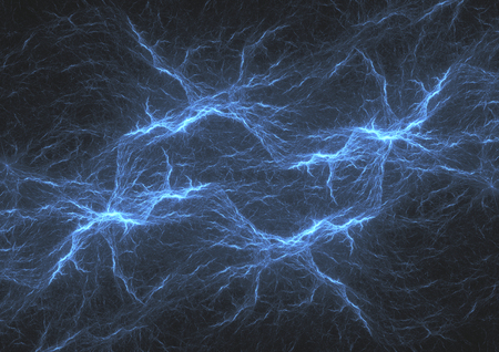 Blue lightning, abstract electrical storm