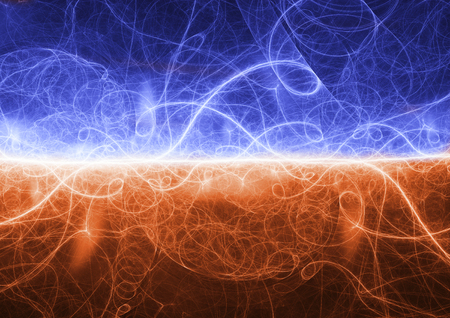 Fire and ice plasma lightning background, abstract electrical discharge Stok Fotoğraf