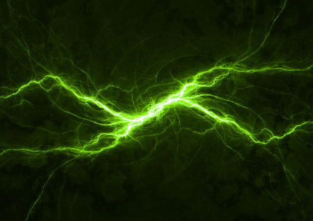 Green power, plasma abstract lightning Stok Fotoğraf
