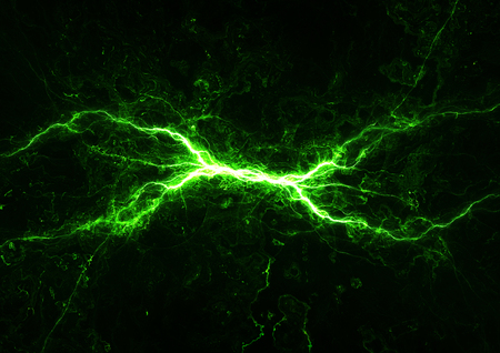 Green power, plasma and lighrning background