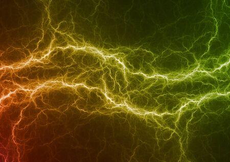 Hot fiery lightning, abstract plasma background Zdjęcie Seryjne
