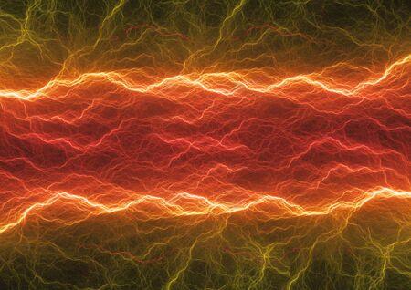 Hot plasma, abstract fiery lightning