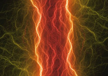 Hot plasma, abstract fiery lightning Stock Photo