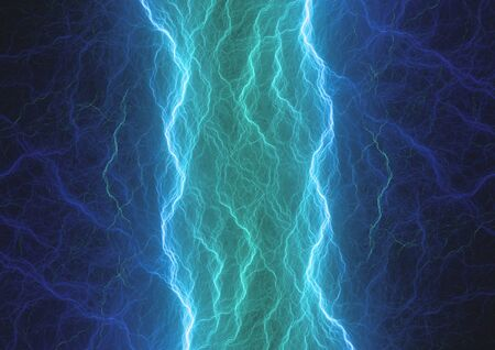 Blue plasma, abstract electrical background