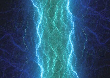 Plasma bleu, abstrait électrique
