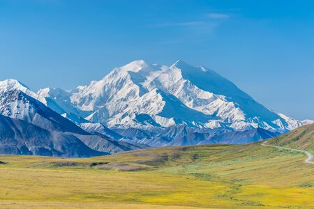 View of Mount Denali, Alaska, USA