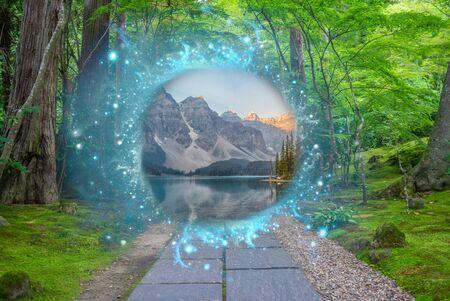 Portail magique entre deux réalités
