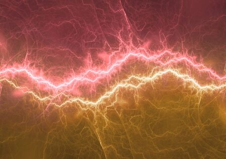 Hot lightning plasma, abstract electrical background