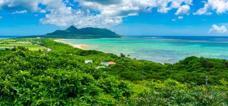 Ishigagi island from the Tamatorizaki Observation Platform, Okinawa, Japan