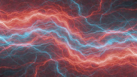 Fire and ice plasma element, abstract electrical background