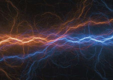 Hot and cold fractal lightning, plasma elements